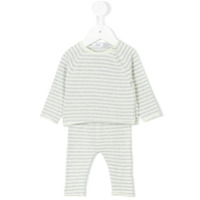 Knot striped knitted set - Green