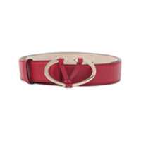 Valentino Valentino Garavani V buckle belt - Red