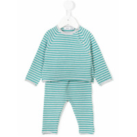 Knot striped knitted set - Blue