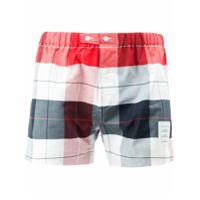 Thom Browne Boxer Short In Large Buffalo Check Oxford - Unavailable