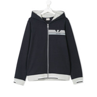 Armani Junior Teen zip-up hoodie - Blue