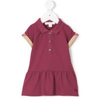 Burberry Kids Cali polo dress - Pink & Purple