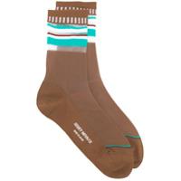 Issey Miyake striped socks - Brown