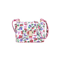 Salvatore Ferragamo Kids floral print shoulder bag - White