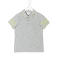 Kenzo Kids logo print polo shirt - Grey