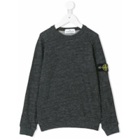 Stone Island Junior melange logo sweatshirt - Grey