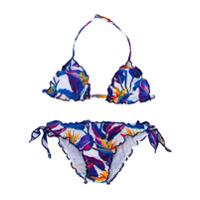 Mc2 Saint Barth Kids TEEN tropical floral print bikini set - Multicolour