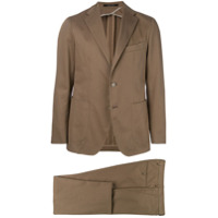Tagliatore notched two-piece suit - Nude & Neutrals