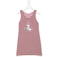 Lapin House glitter striped dress - Red