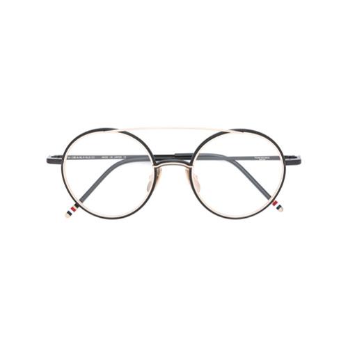 Bild på Thom Browne Eyewear Black Iron & 18K Gold Optical Glasses