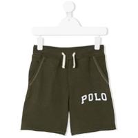 Ralph Lauren Kids logo track shorts - Green