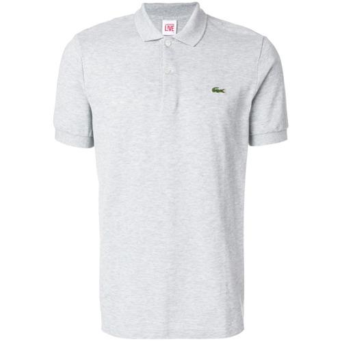 Billede af Lacoste Live logo patch polo shirt - Grey