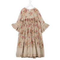Pero Kids floral gypsy dress - Nude & Neutrals