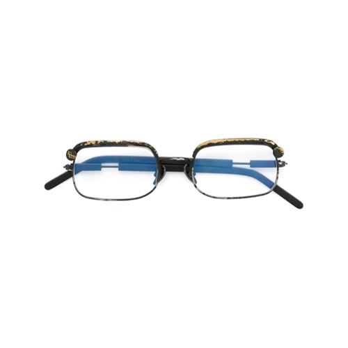 Billede af Kuboraum distressed rectangular frame glasses - Black