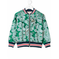 Anne Kurris floral pattern bomber jacket - Green