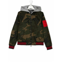Hydrogen Kids Teen contrast-trim camouflage jacket - Multicolour