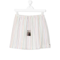 American Outfitters Kids striped lurex skirt - White