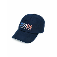 Boss Kids France logo print baseball cap - Blue