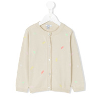 Knot embroided cardigan - Nude & Neutrals