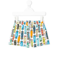 Mc2 Saint Barth Kids skate print swim shorts - Multicolour