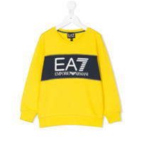 Ea7 Kids printed logo sweatshirt - Yellow & Orange