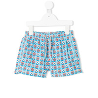 Mc2 Saint Barth Kids rubber ring swim shorts - Blue