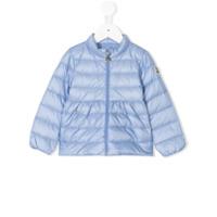 Moncler Kids arm patch padded jacket - Blue