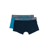 Calvin Klein Kids logo printed boxer shorts - Blue