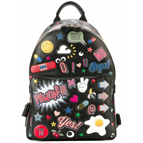 Billede af Anya Hindmarch 'All Over Stickers' backpack - Black