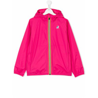K Way Kids logo stripe jacket - Pink & Purple