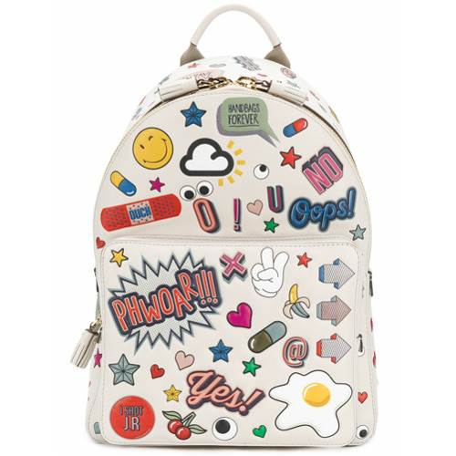 Billede af Anya Hindmarch all over stickers mini backpack - Nude & Neutrals