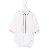 Cashmirino Pointed collar body - White