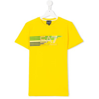 Ea7 Kids TEEN logo print T-shirt - Yellow & Orange