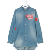 Gaelle Paris Kids TEEN patch appliqué denim shirt - Blue