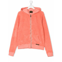 Finger In The Nose TEEN knitted zipped hoodie - Pink & Purple