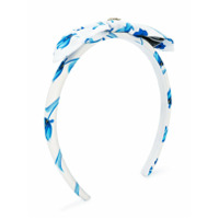 Young Versace floral print headband - Blue