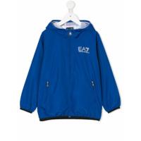 Ea7 Kids logo windbreaker jacket - Blue