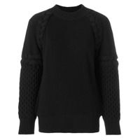 Sacai textured-knit sweater - Black