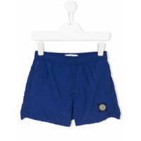 Stone Island Junior logo patch swim shorts - Blue