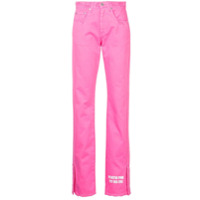 MSGM bootcut jeans - Pink & Purple