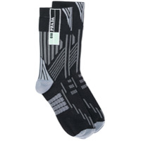 Prada geometric intarsia socks - Multicolour