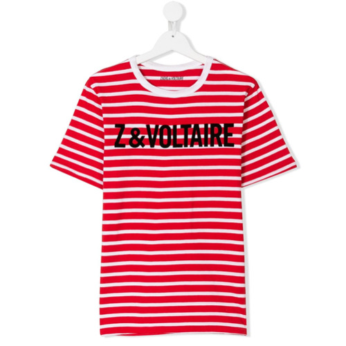 Billede af Zadig & Voltaire Kids branded striped T-shirt - Red