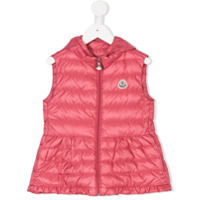 Moncler Kids sleeveless padded coat - Pink & Purple