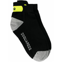 Dsquared2 logo printed ankle socks - Black