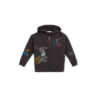 Burberry Kids Adventure Print Zip-up Hoodie - Grey