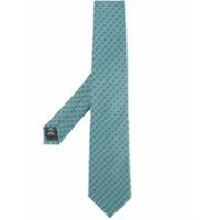 Gieves & Hawkes embroidered tie - Green