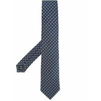 Gieves & Hawkes floral print tie - Blue