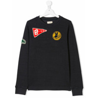 Bellerose Kids TEEN embroidered patch sweater - Blue