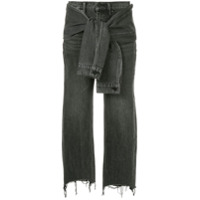 T By Alexander Wang knot detail jeans - Grey