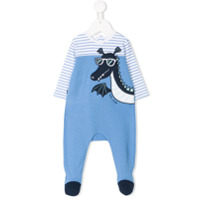 Little Marc Jacobs dragon print pajamas - Blue